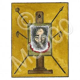 6. LA SAINTE FACE DE NOTRE SEIGNEUR JESUS CHRIST pantacle béni sur parchemin végétal