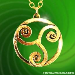 Triskèle  pendentif doré Or fin