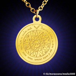 MEDAILLE DE SALOMON. Pentacle de Mercure  Or Massif 18 carats.