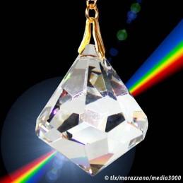 PENDULE DES ARKONAUTES, grand conique en cristal 40mm