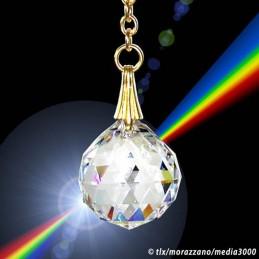 PENDULE  petit rond en cristal 20mm