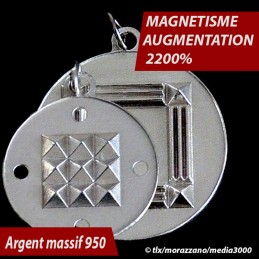 PACK 2 OSCILLATEURS QUANTIQUES  Argnt Massif 950