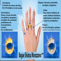 Bague Shiatsu® Morazzano® Plaqué Argent