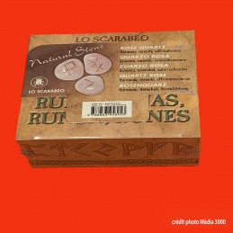 RUNES EN QUARTZ ROSE, pierres naturelles