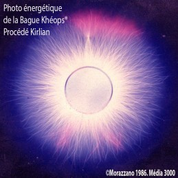 Photo énergétique de la Bague Khéops®, procédé Kirlian.